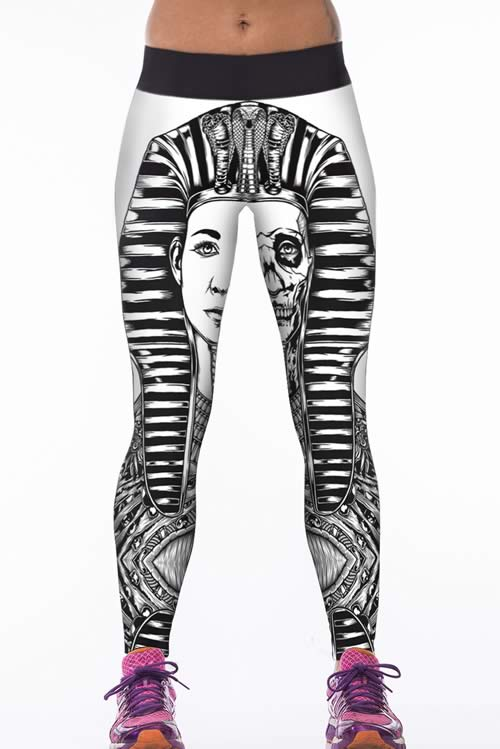 Stretchy Cult Punk Sport Yoga Leggings Pants for Women