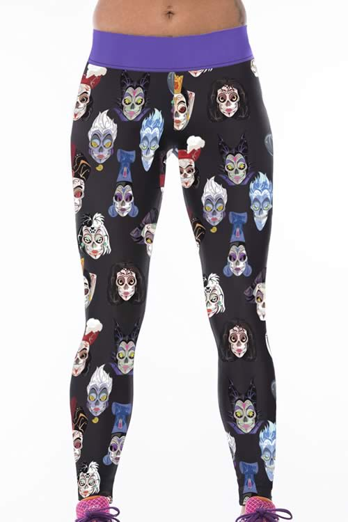 Halloween Cartoon Print Yoga Pants for Women