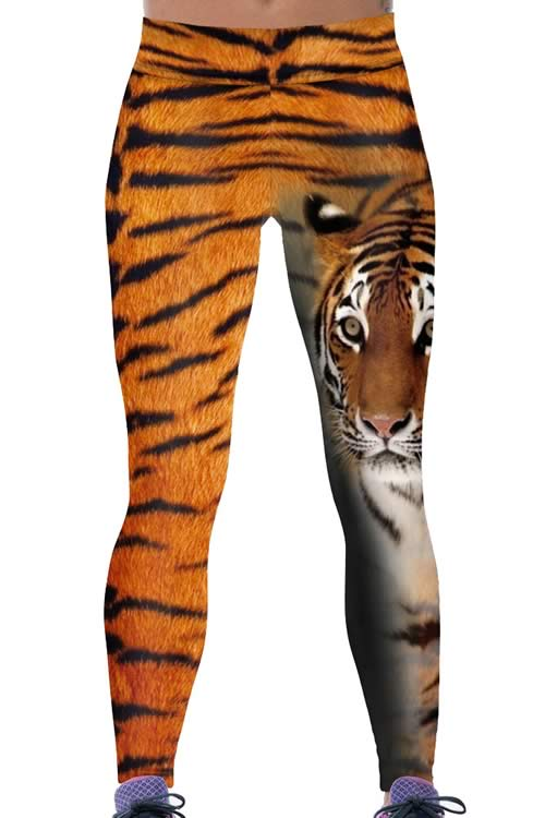 Women Tiger Print Yoga Leggings for Sale
