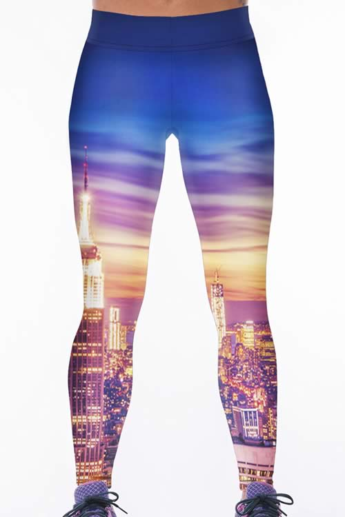 Prosperous City Tight Yoga Leggings for Women