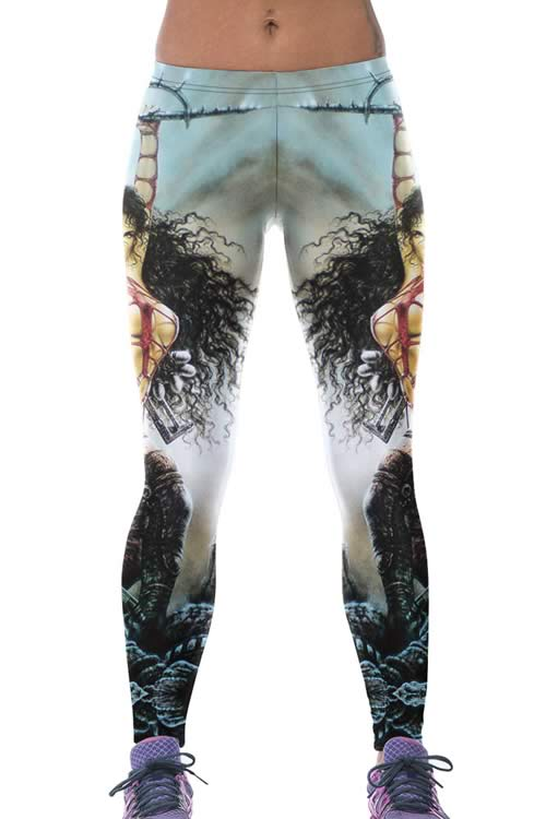 Warrior Princess Print Yoga Leggings