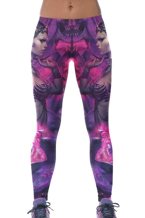 War Goddess High Stretch Yoga Leggings for Women