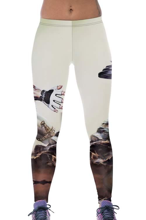 Women Masculine Warrior Workout Leggings