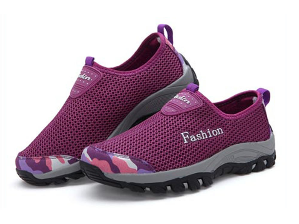 V17 Purple Honeycomb Mesh Breathable Vamp Women Tennis Shoes