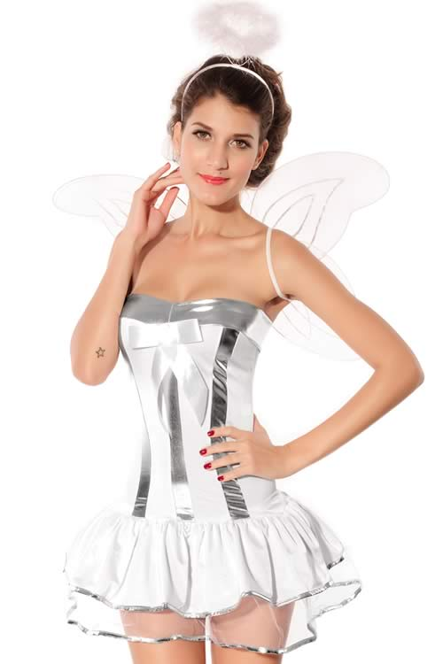 High Taste Halloween Girl White Angel Costume