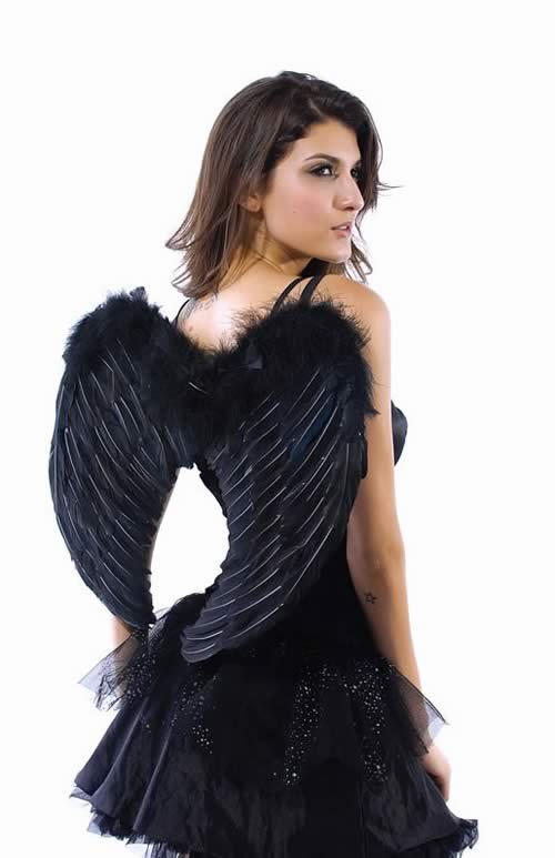 Romantic Dark Angel Costume for Women