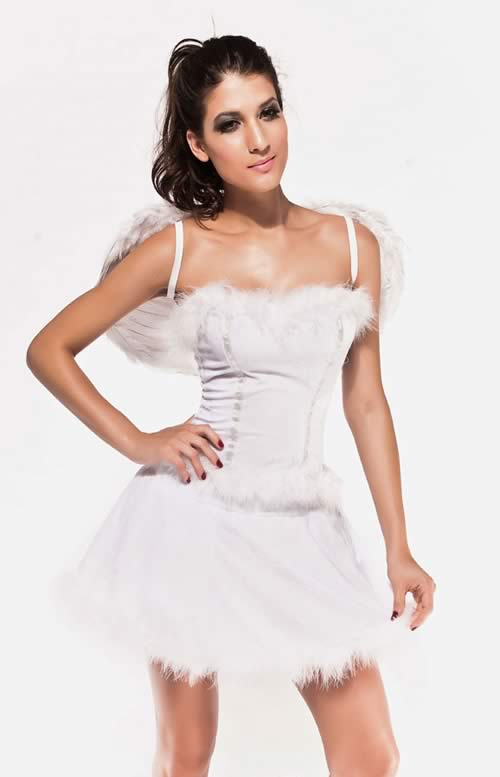 Women Cloud Nine Angel Costume in White