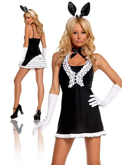 Pretty Women Black Tie Bunny Costume