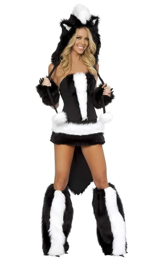 Deluxe Sexy Adult Skunk Cat Halloween Costume