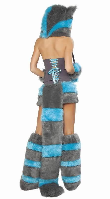 Women Cheshire Cat Costume with Luxurious Animal Cosplay