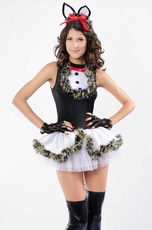 Cosplay Animal Black Women Kitty Costumes
