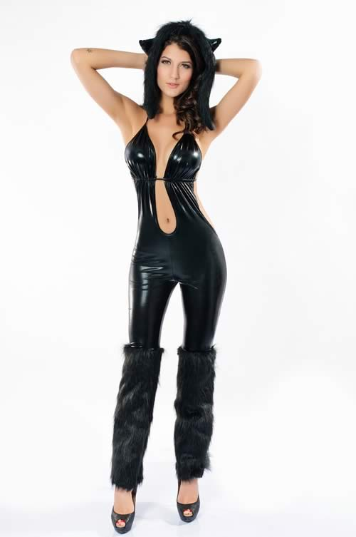Stylish Babe Black Cat Costume for Women