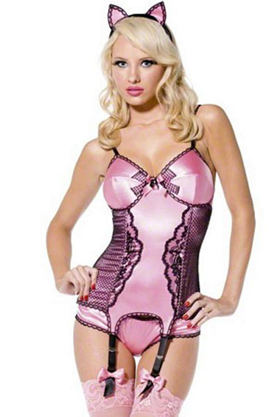 Women Pink Kitty Costume for Animal Cosplay