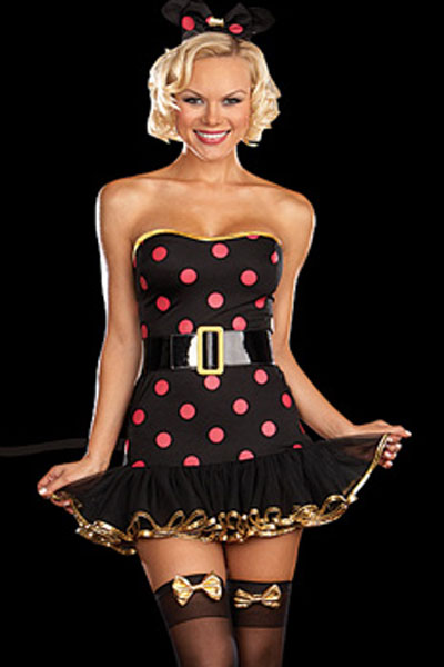 Cosplay Women Polka Dot Mouse Costume