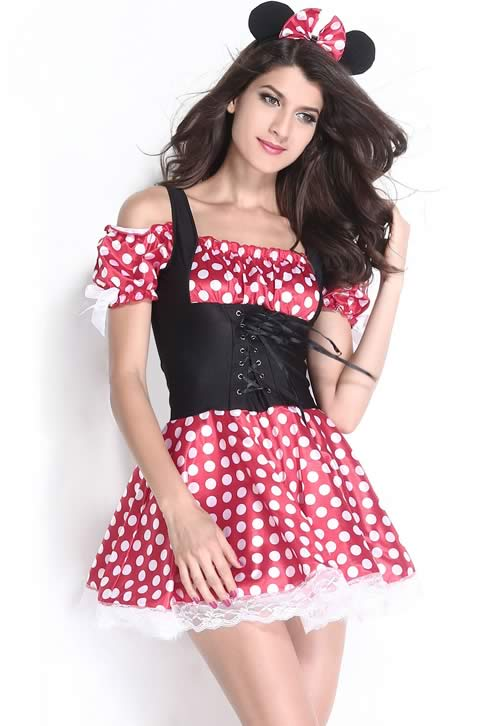Peasant Style Mickey Mistress Costume for Women