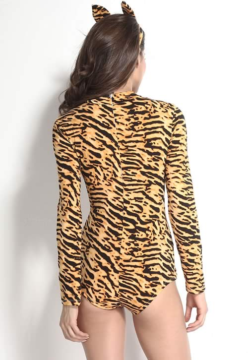 Best Sultry Lady Tiger Romper Costume