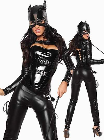 Halloween Black Cat Costume for Women