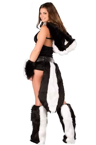 Deluxe Halloween Women Flower Skunk Costume