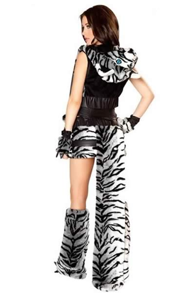 Cosplay Deluxe White Tiger Costume for Women