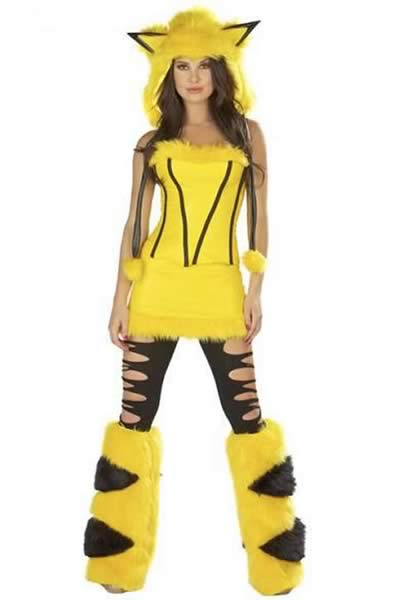 Pretty Women Pikachu Halloween Costume in Yellow