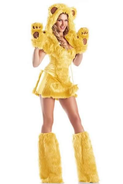 Best Furry Monster Bear Costume in Yellow