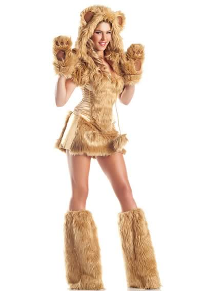 Furry Brown Monster Bear Costume for Women