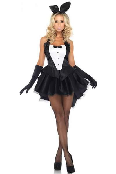 Cosplay Women Tux and Tails Bunny Costume