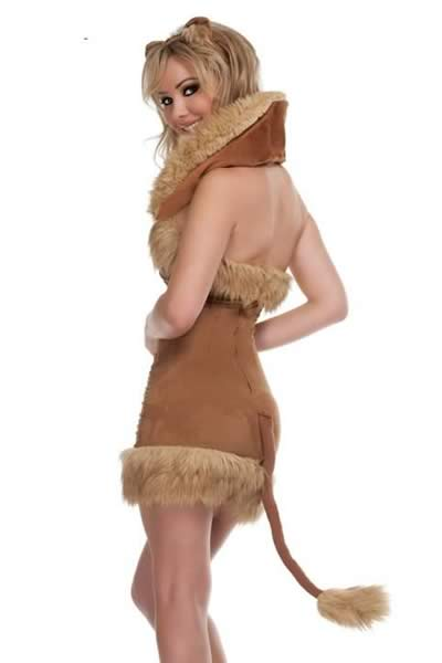 Women Brown Cat Lady Costume with Cosplay Animal