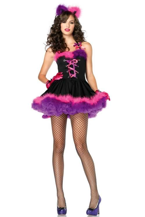 Halloween Pretty Adult Kitty Costume for Women