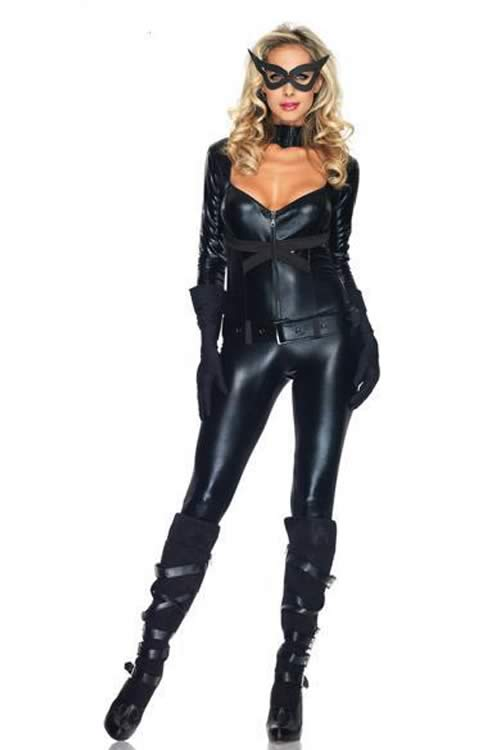 Halloween Adult Black Cat Girl Costume