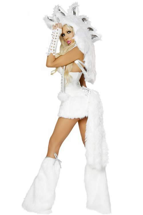 Deluxe Adult White Pegasus Costume for Women