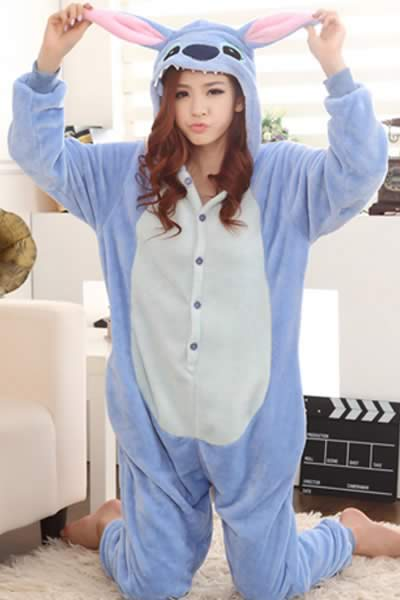 Best Women Kangaroo Onesies Pajamas in Blue