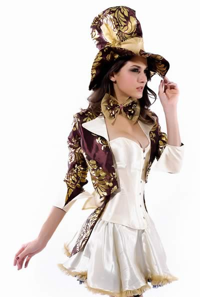 Deluxe Tea Party Hatter Costume for Women