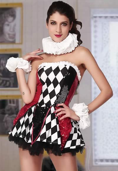 Deluxe Fairy Tale Court Jester Costumes for Women