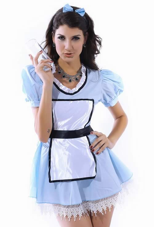 Hottest Sweet Alice French Maid Costume in Blue