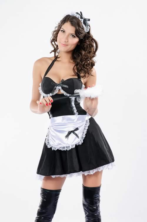 Classic Design French Maid Costume for Women