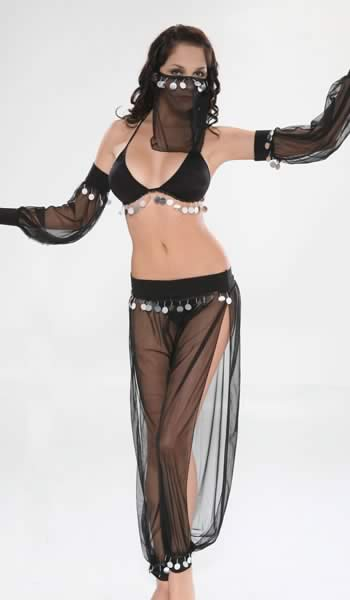 Cosplay Women Arabian Dancer Costume in Black