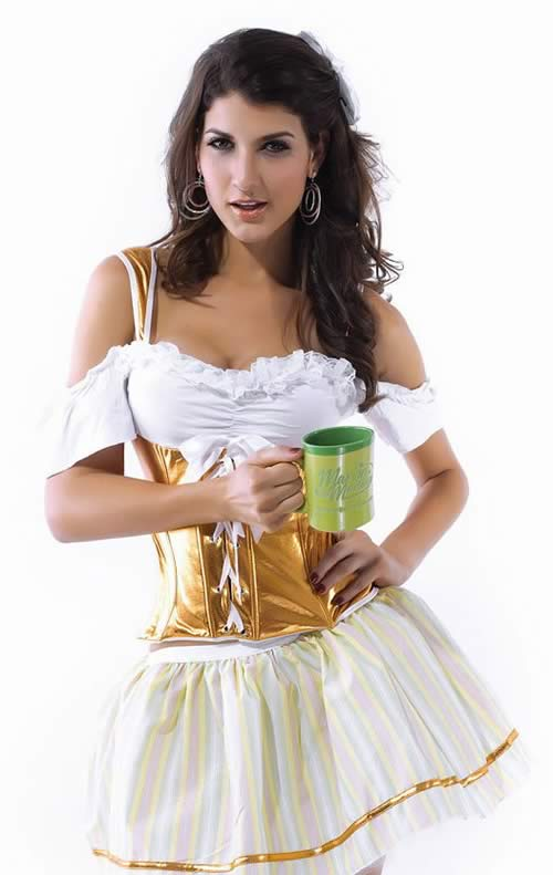 Women Golden Oktoberfest Beer Costume