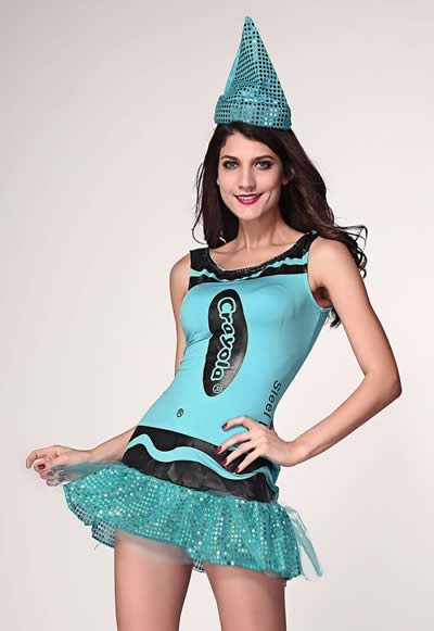 Crayola Glitz and Glitter Costume in Steel Blue