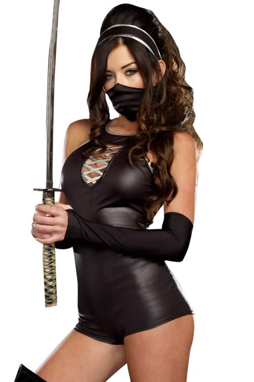 Cosplay Black Ninja Costume for Women