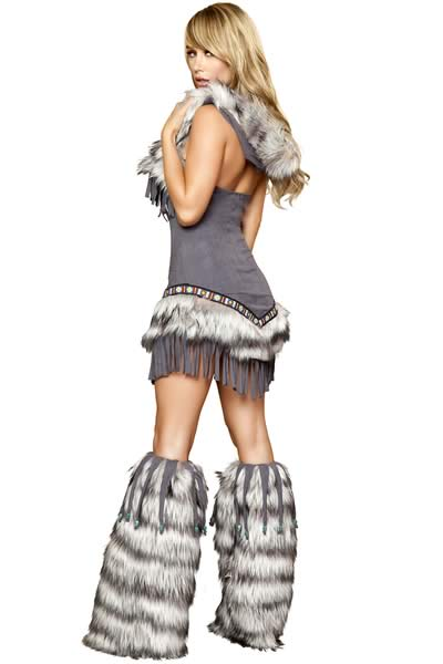 Grey Native American Women Indian Costume