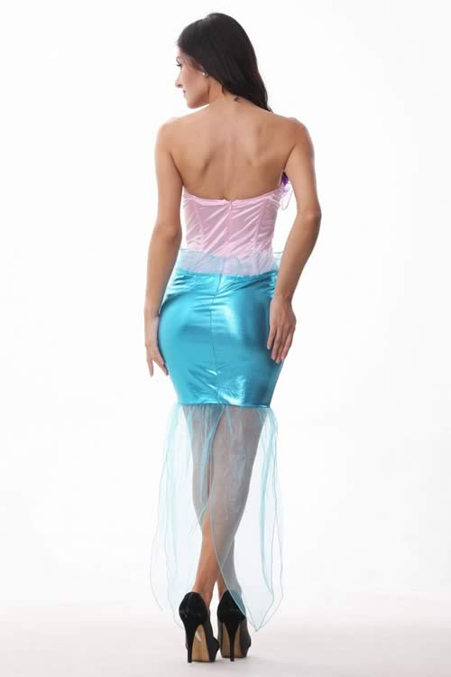 Womens Fancy Adult Wet Look Princess Mermaid Costume