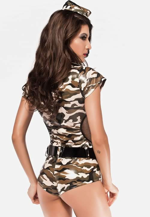 US Army Hot Pants Overall Military Costume