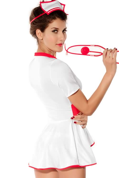 Halloween Pin Up Nurse Costume for Women