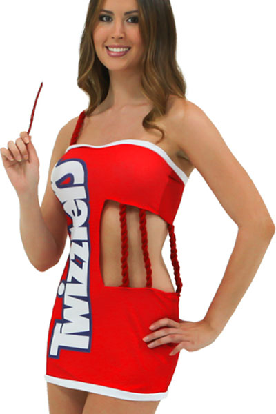 Halloween Twizzlers Party Costume with Mini Dress