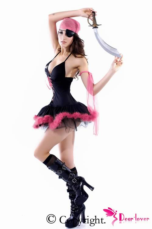 Beautiful Mini Dress Pirate Costume for Women