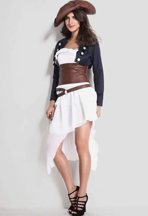 High Waist Cincher Colonial Pirate Costume for Women