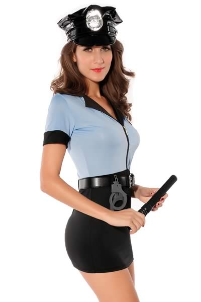 Halloween Party Blue Police Costumes for Women