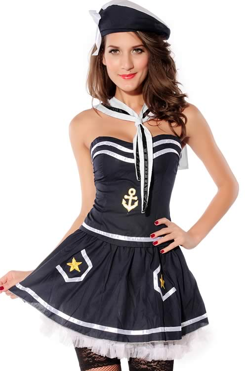 Halloween Exquisite Sailor Costume for Women
