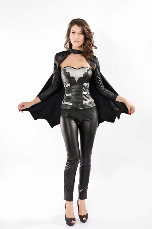 Halloween Bat Warrior Superhero Costume for Women